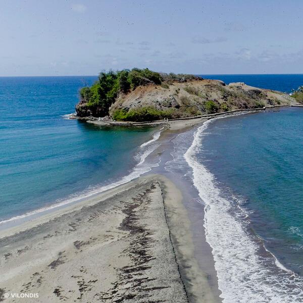 Tombolo, Martinique - photographie par drone réalisée par ©Vilondis