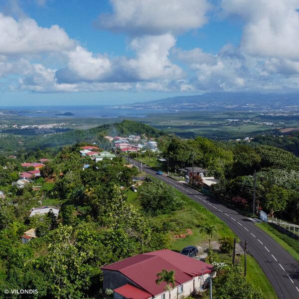 Rivière salée, Martinique - photographie par drone réalisée par ©Vilondis